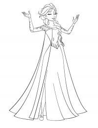 Красивая принцесса Раскраски с цветами распечатать бесплатно