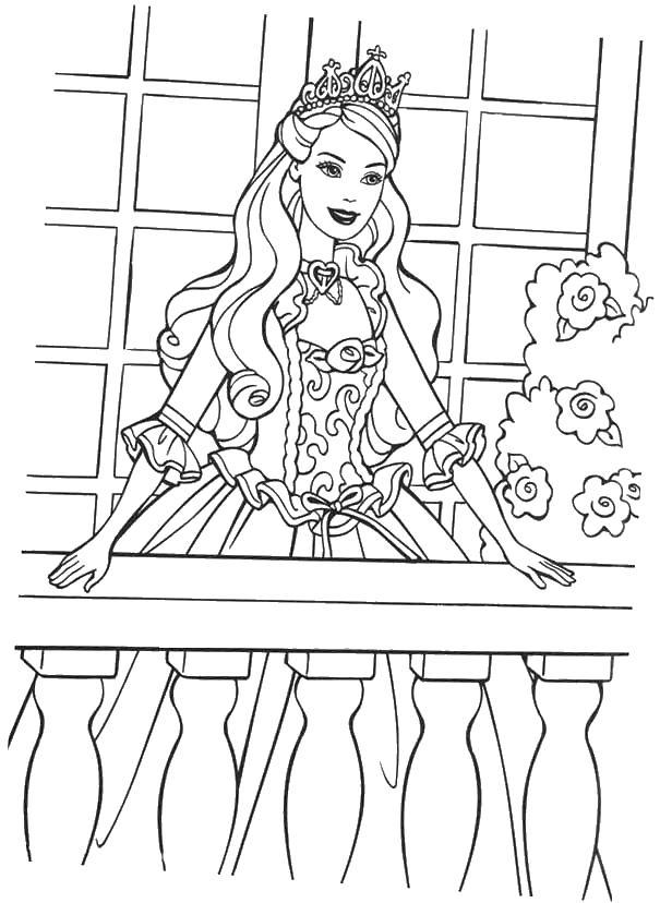 Принцесса любит свой народ Раскраски с цветами распечатать бесплатно