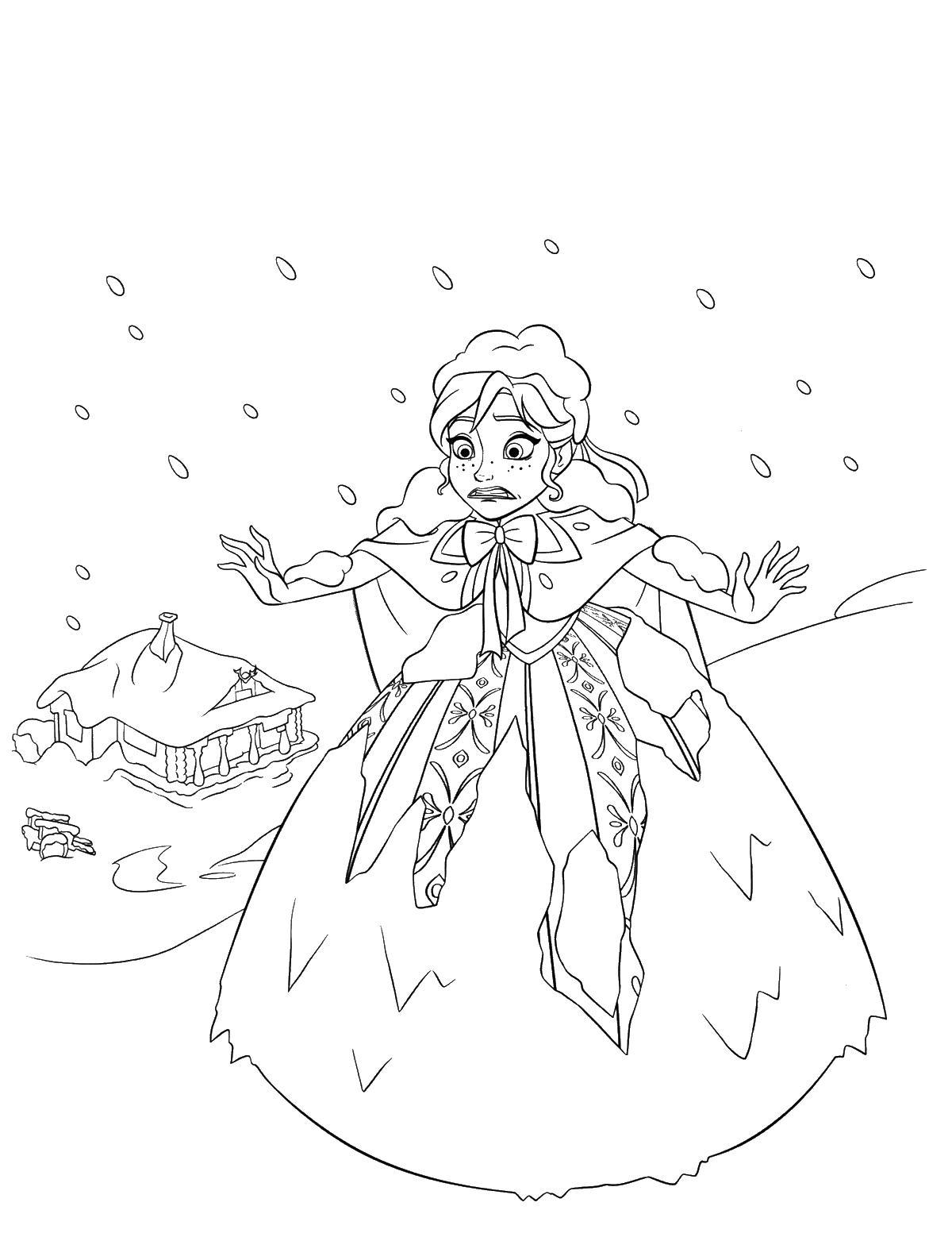 Под снегом Раскраски с цветами распечатать бесплатно