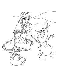 Анна с олифом Раскраски с цветами распечатать бесплатно