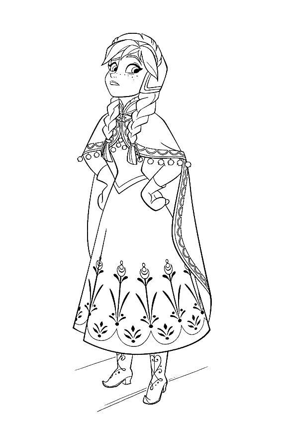 Анна младшая сестра ельзы Раскраски для девочек бесплатно