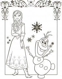 Холодное сердце персонажи Раскраски для девочек бесплатно