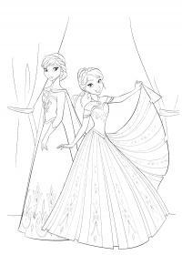 Принцессы царства Раскраски для девочек бесплатно