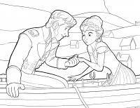 Ханс и анна Раскраски для девочек бесплатно