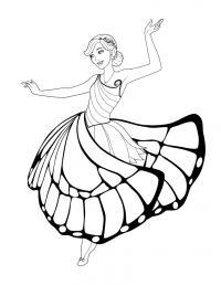 Танец бабочки Раскраски с цветами распечатать бесплатно