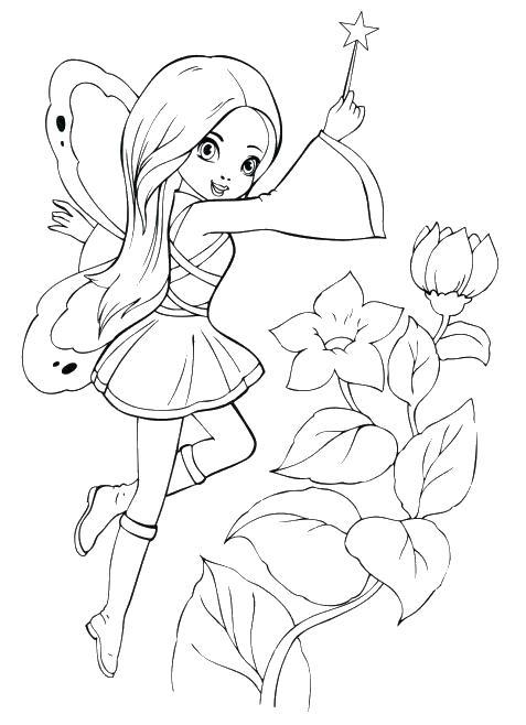 Волшебная палочка Раскраски с цветами распечатать бесплатно