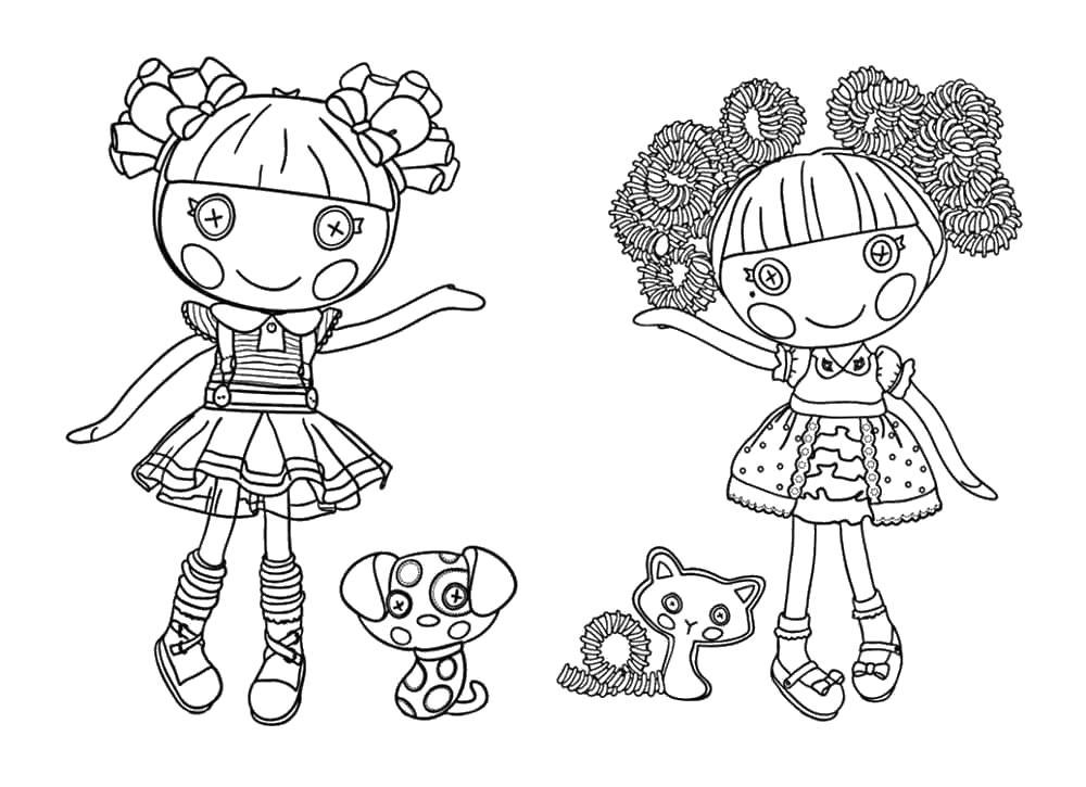 Куклы от руки Раскраски с цветами распечатать бесплатно