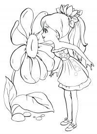 Для девочек Раскраски с цветами распечатать бесплатно