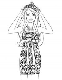 Красивая девушка Раскраски с цветами распечатать бесплатно