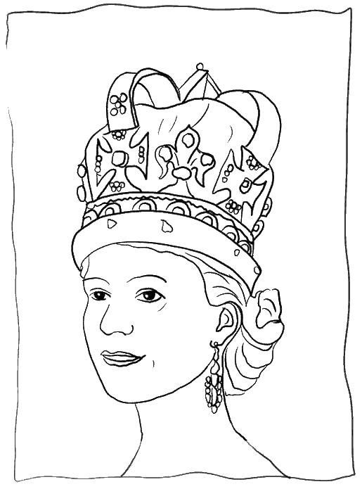 Королева англии Раскраски для девочек онлайн