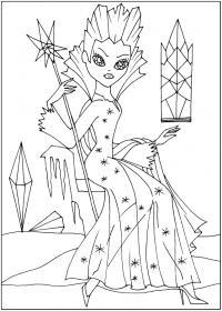 Злая снежная королева Раскраски с цветами распечатать бесплатно