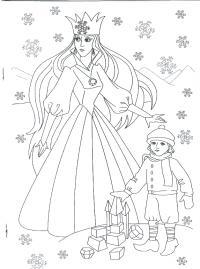 Королева забирает детей Раскраски для девочек онлайн