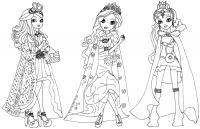 Раскраска девочки эквестрия королевы Для детей онлайн раскраски с цветами