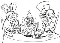 Мышка в чайнике Найти раскраски цветов