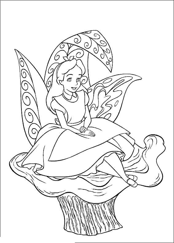 Кресло грибы Раскраски для девочек онлайн