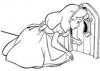 Алиса стучится в маленький дверь Найти раскраски цветов