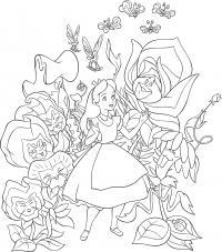 Цветки алисы Найти раскраски цветов
