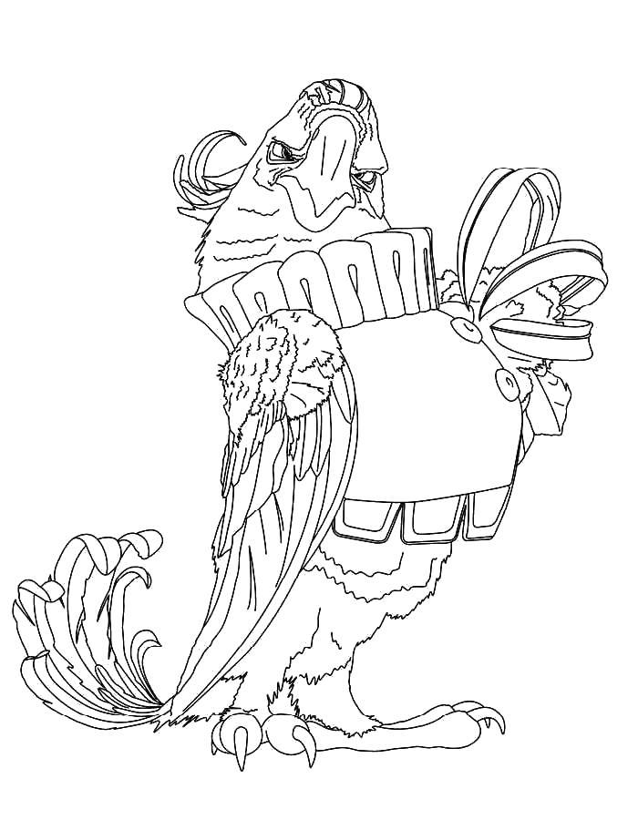 Птица Раскраски с цветами распечатать бесплатно