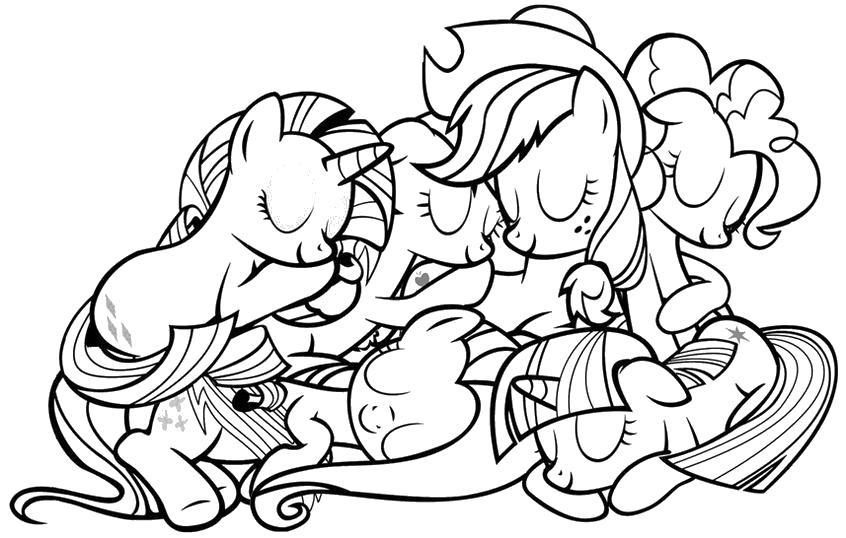 Лошадки Раскраски с чудесными цветами