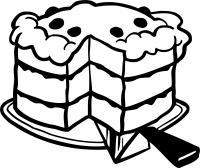 Пореж торт Черно белые раскраски цветов
