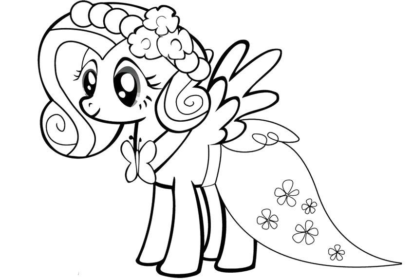 Понивиль невеста Детские цветы распечатать