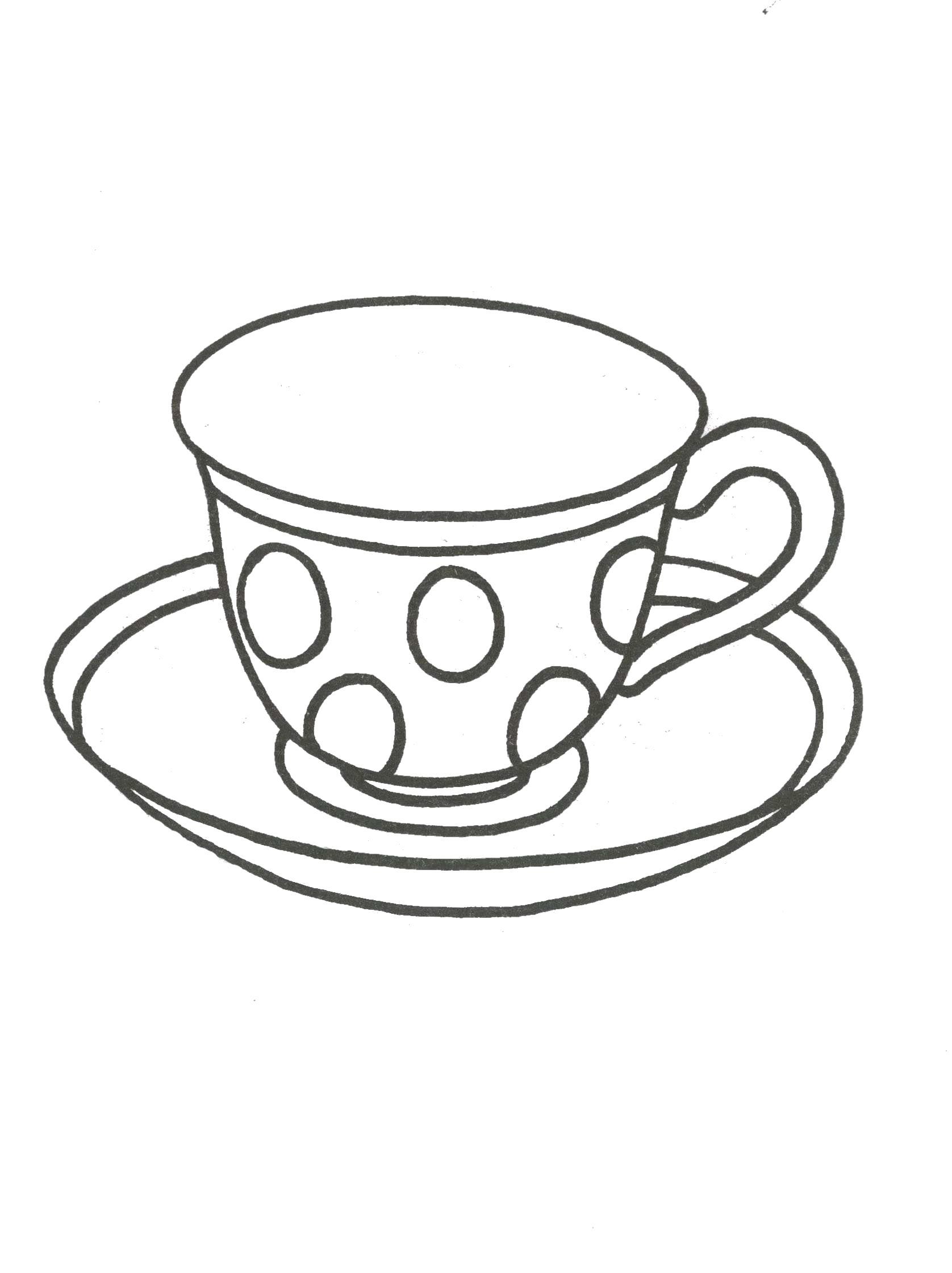 Чашка чая Раскраски с цветами распечатать бесплатно