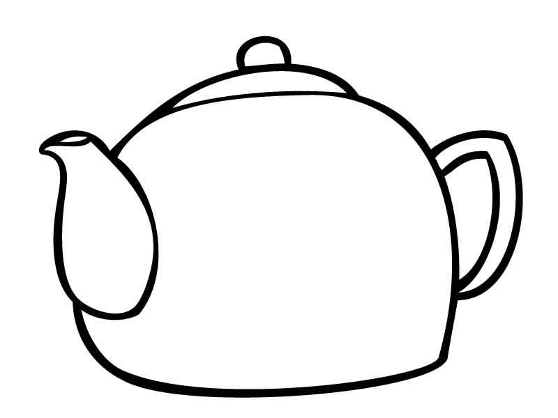 Раскрась чайник Раскраски с цветами распечатать бесплатно