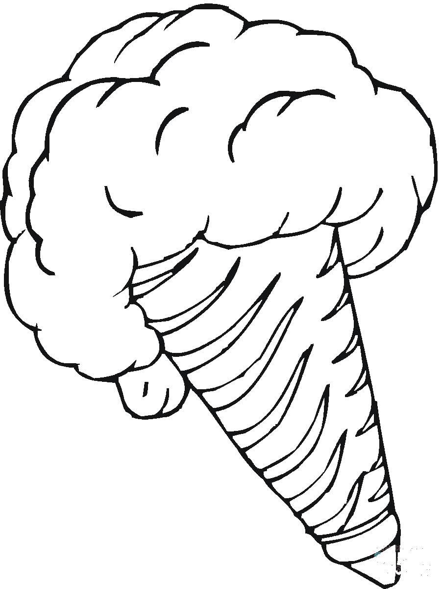 Бомба мороженное Раскраска цветок для скачивания
