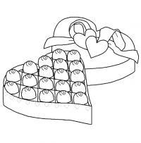 Коробка конфет Раскраска цветок для скачивания