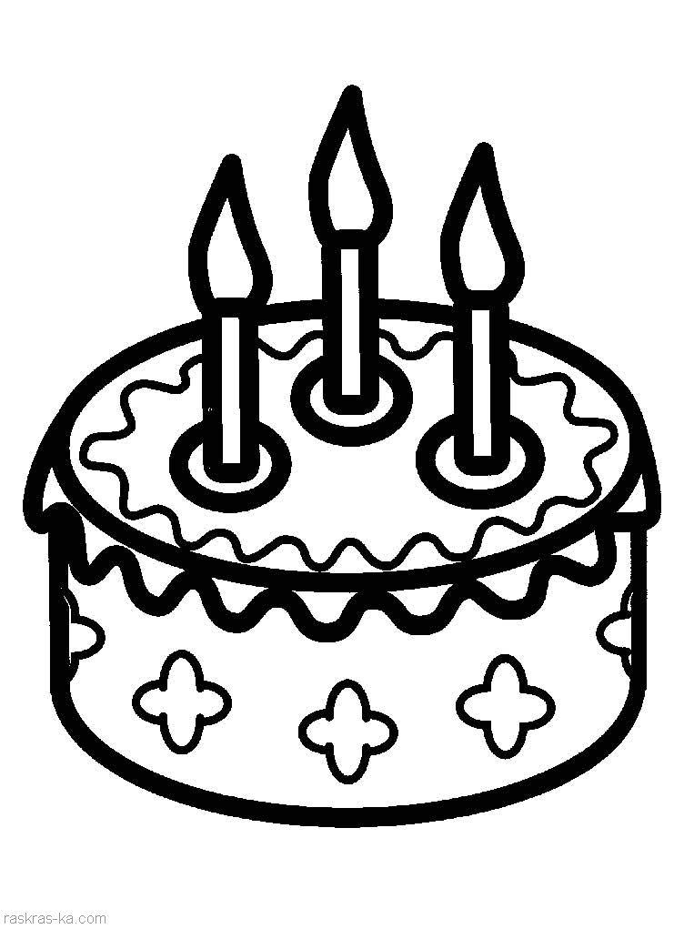 Торт цветы раскраски онлайн бесплатно