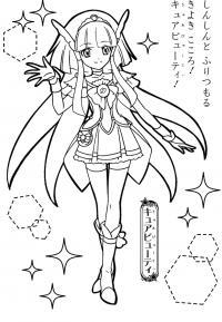 Девочка аниме Раскраски цветочки онлайн