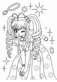 Семпотичная девочка Раскраски с цветами распечатать бесплатно