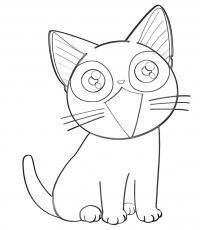 Котенок Раскраски с цветами распечатать бесплатно
