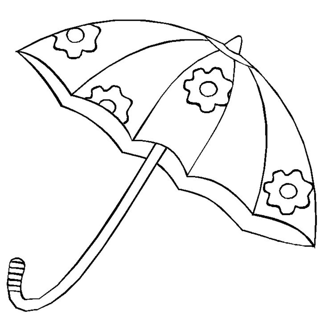 Зонт с цветочками Раскраски цветы для девочек