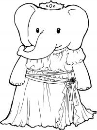 Слон Фото раскраски цветы