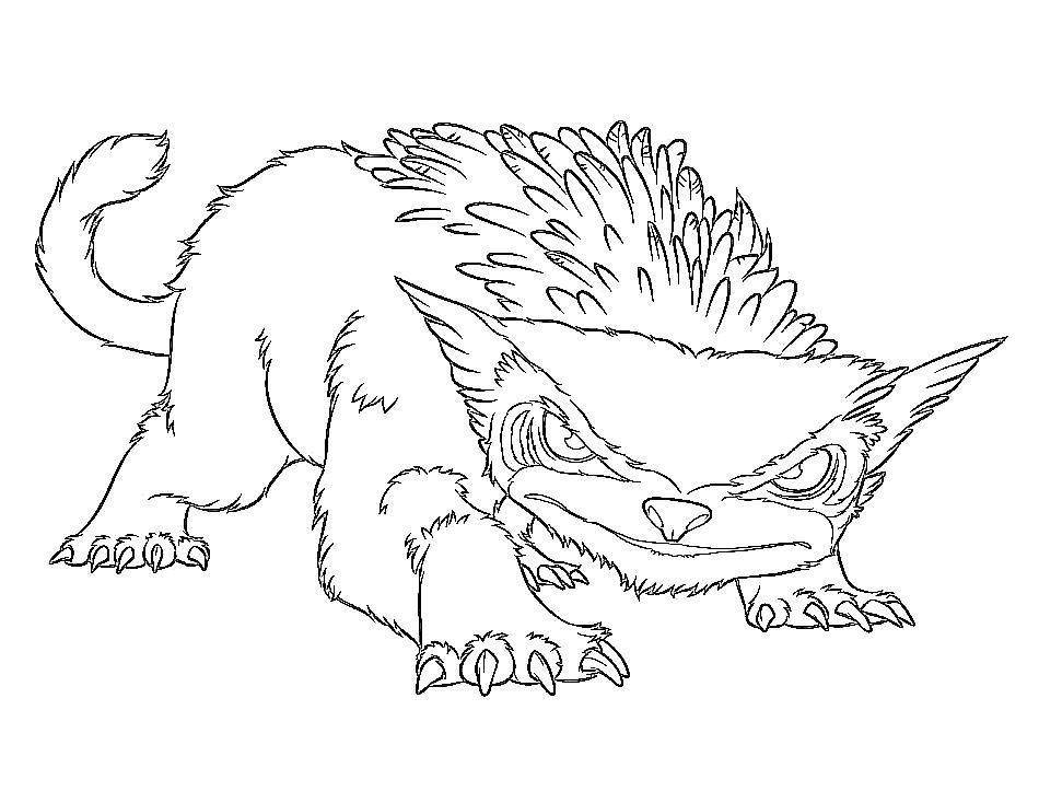 Семейка крудс, зверь с большими когтями Раскраски цветы онлайн скачать и распечатать