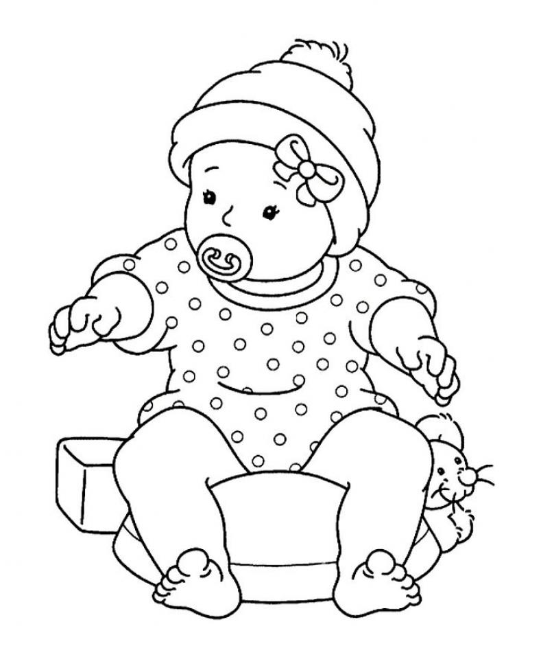 Малыш Раскраска цветок для скачивания