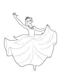 Балерина Раскраски с цветами распечатать бесплатно