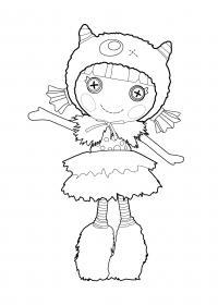 Кукла в шапочке Раскраски детские с цветами