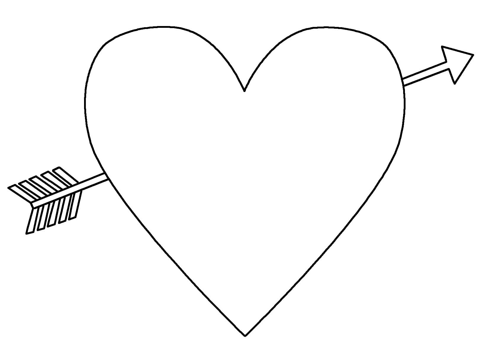 Сердце со стрелой Раскраски цветы онлайн скачать и распечатать