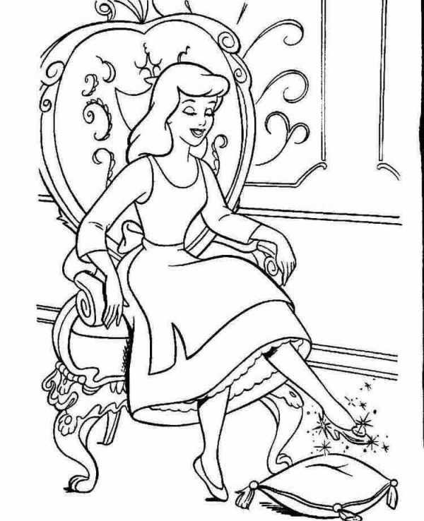 Золушка на троне Раскраски для девочек онлайн