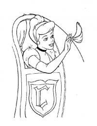 Принцесса машет платочком из кареты Раскраски для девочек онлайн