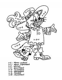 Кот в сапогах Раскраски с цветами распечатать бесплатно