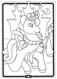 Замок принцессы пони Раскраски с цветами распечатать бесплатно