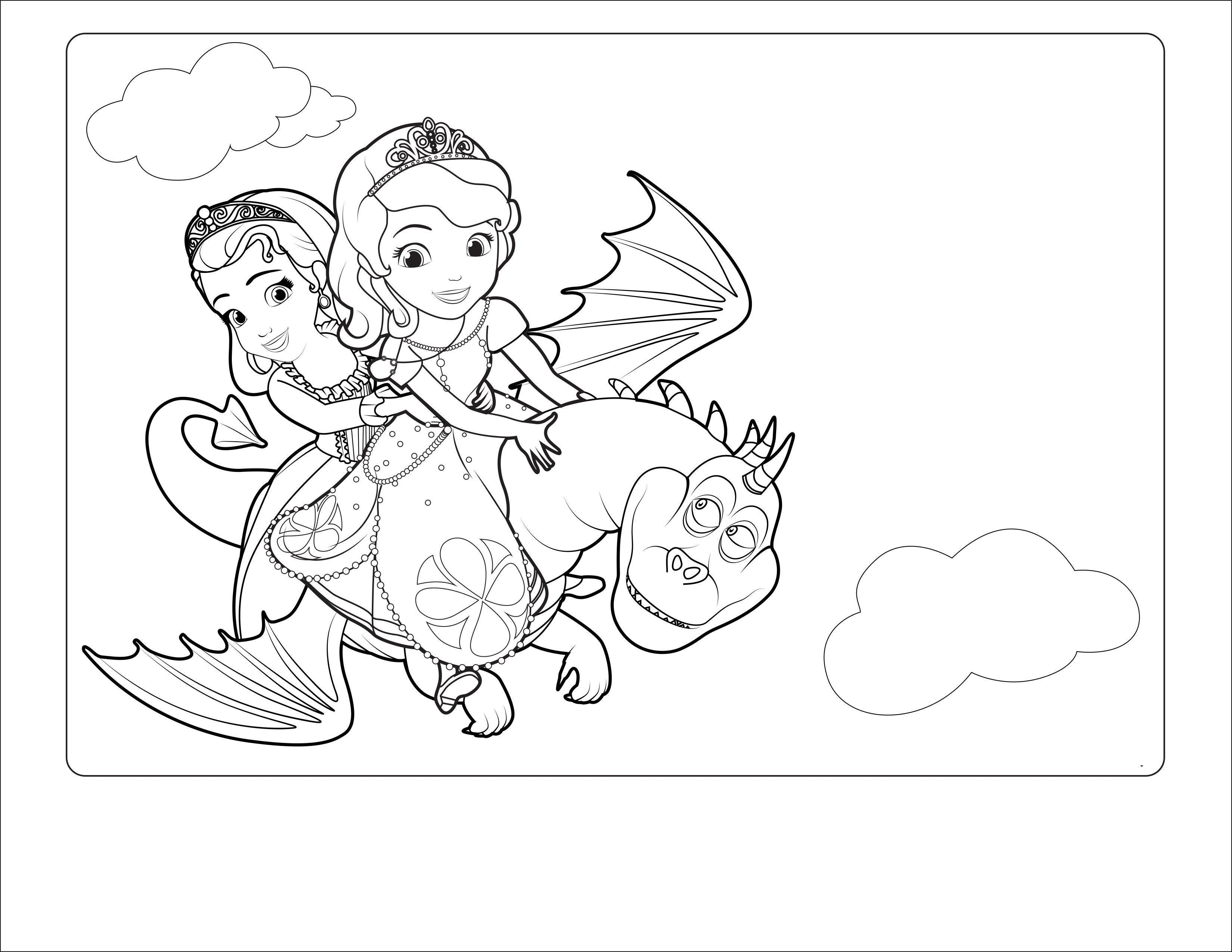 Принцессы на драконе Раскраски с цветами распечатать бесплатно
