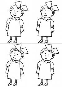 Девочка в платье Раскраски цветы для девочек