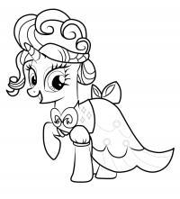 Модное платье для пони Скачать и распечатать раскраски цветов бесплатно