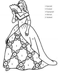 Девушка с веером в бальном платье Раскраски цветы скачать