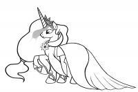 Пони с короной Раскраски с цветами распечатать бесплатно
