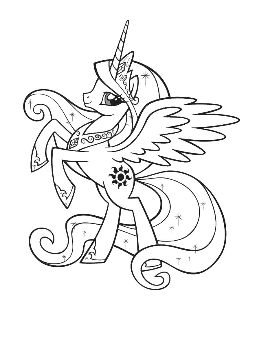 Пони Скачать и распечатать раскраски цветов бесплатно